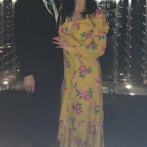 10b650755392 ASOS Dresses | Long Sleeve Wrap Maxi Dress In Bold Floral | Poshmark